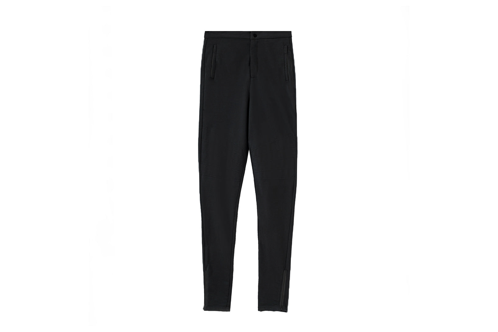 Moto Knit Jogger Pants / Black