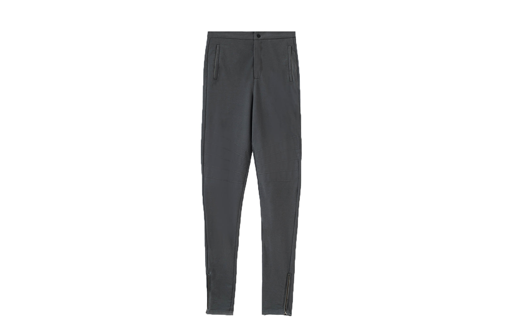 Moto Knit Jogger Pants / Grey