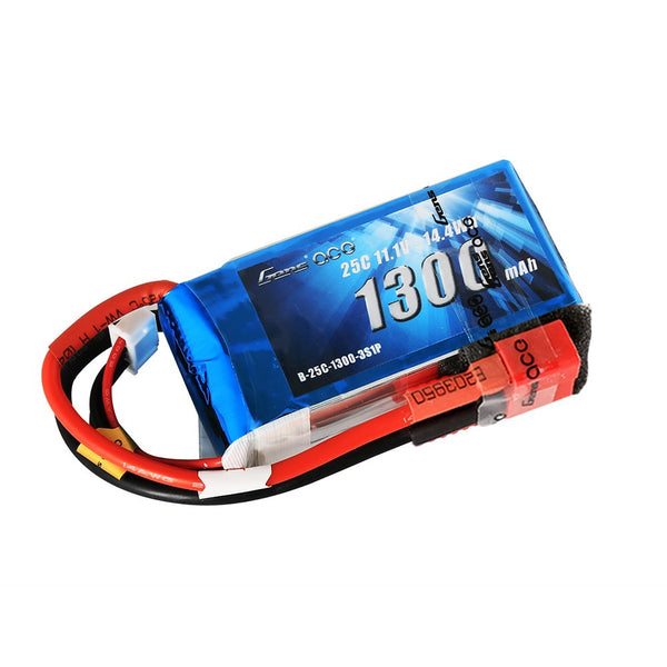 Gens ace 1300mAh 11.1V 25C 3S1P Lipo Battery Pack with Deans Plug
