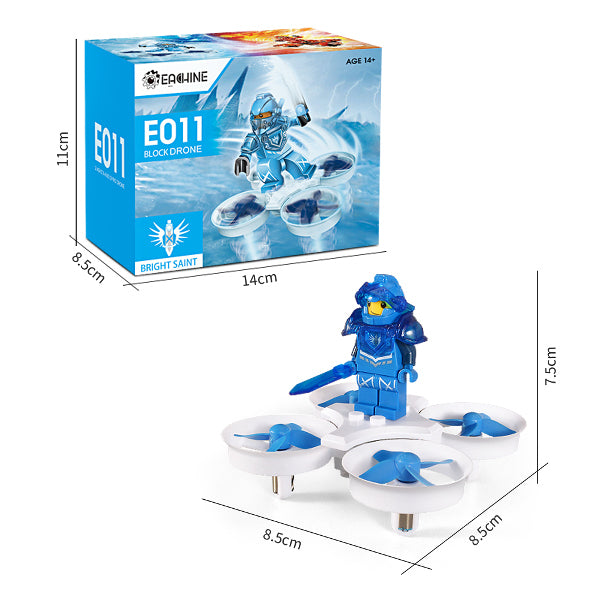 Eachine E011 Mini Toy Brick RC Quadcopter RTF (Blue)