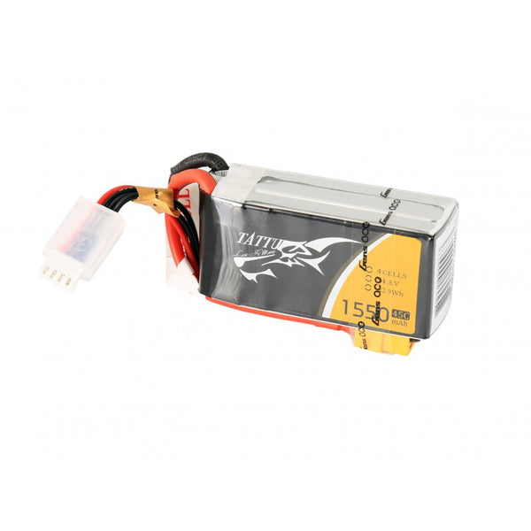 Tattu 1550mAh 45C 4S1P Lipo Battery Pack with XT60 plug