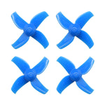 40mm 4-blade 2S Whoop Propellers (1.5mm Shaft Hole) - Blue