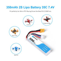 350mAh 2S Lipo Battery (2PCS)
