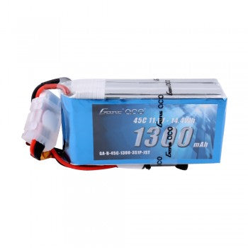 Gens ace 1300mAh 11.1V 45C 3S1P Lipo Battery Pack with JST-SYP plug