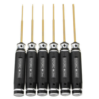 6Pcs TOTORC HSS Titanium Hex Screwdriver