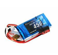 Gens ace 450mAh 7.4V 25C 2S1P Lipo Battery Pack with JST-SYP plug
