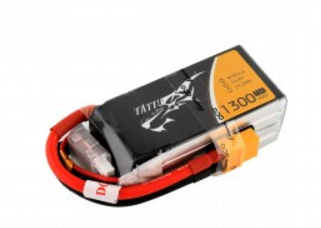 Tattu 1300mAh 75C 4S1P lipo battery pack with XT60 plug