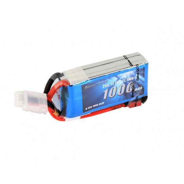 Gens ace 1000mAh 11.1V 25C 3S1P Lipo Battery Pack with Deans plug