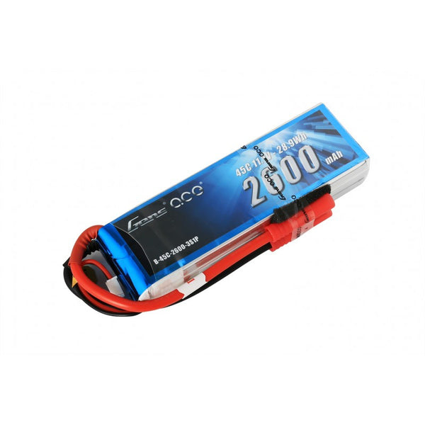 Gens ace 2600mAh 11.1V 45C 3S1P Lipo Battery Pack with Deans plug