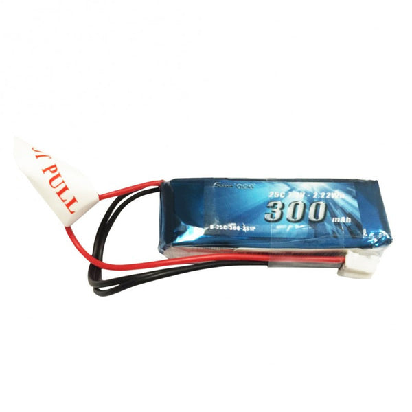 Gens ace 300mAh 7.4V 25C 2S1P Lipo Battery Pack with JST-PHR plug