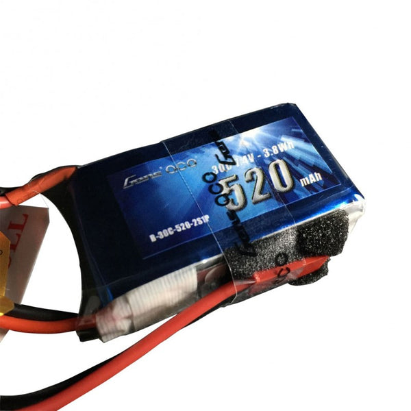 Gens ace 520mAh 7.4V 30C 2S1P Lipo Battery Pack with JST-SYP plug