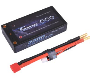 Gens ace 3200mAh 7.4V 60C 2S1P Hardcase Lipo Battery Pack 58# with 4.0mm banana to Deans plug