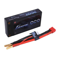 Gens ace 3500mAh 7.4V 60C 2S1P HardCase Lipo Battery Pack 11# with 4.0mm banana to Deans plug
