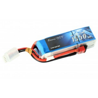 Gens Ace 1550mAh 11.1v 25C 3S1P lipo battery pack with Deans plug