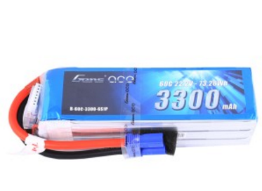 Gens ace 3300mAh 22.2V 60C 6S1P Lipo Battery Pack with EC5 plug