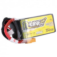 Tattu R-Line 1800mah 4S 95C FPV Lipo Battery with XT60 Plug