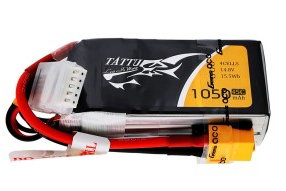 Tattu 1050mAh 14.8V 45C 4S1P Lipo Battery Pack with XT60 plug
