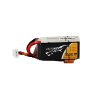 Tattu 1550mAh 11.1V 75C 3S1P Lipo Battery Pack Racing with XT60 plug