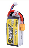 Tattu R-Line 1300mAh 75C 4S1P lipo battery pack with XT60 Plug