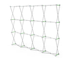 Frame for deluxe trade show display kit with 10ft pop up backdrop