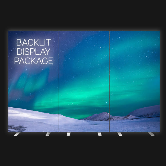 backlit display package trade show