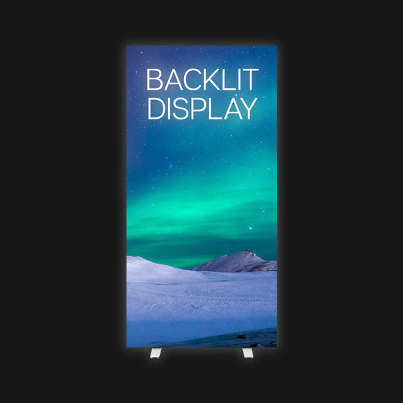 backlit trade show display