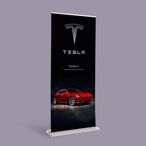 elite tall retractable banner stand for trade show
