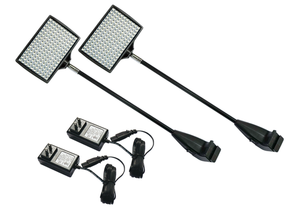 set of 2 LED lights for trade show booth displays