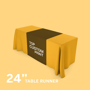 custom logo table runner for trade show or craft show