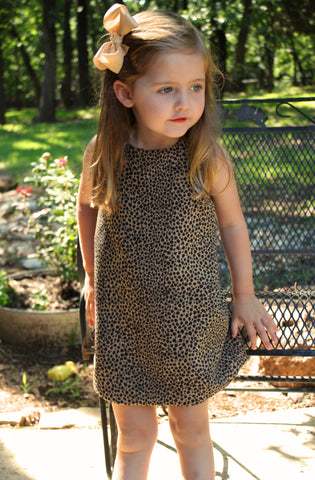Cheetah print aline dress