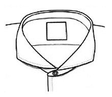 Cutaway Collar, French collar