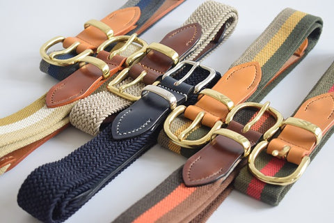 The Cotton® London's Canvas belt collection
