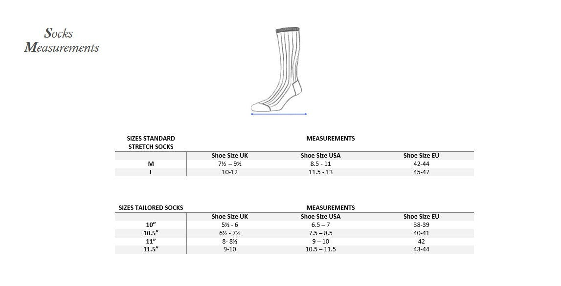 Socks measurement