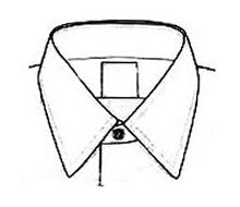 Italian collar, Straight point collar