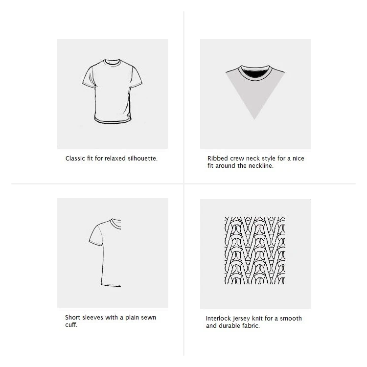 Product details for Supima cotton short sleeves t-shirts