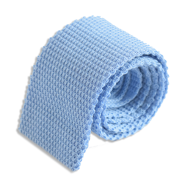 Rug - DIAGONAL WEAVE PLAIN KNITTED TIE – SAPPHIRE BLUE