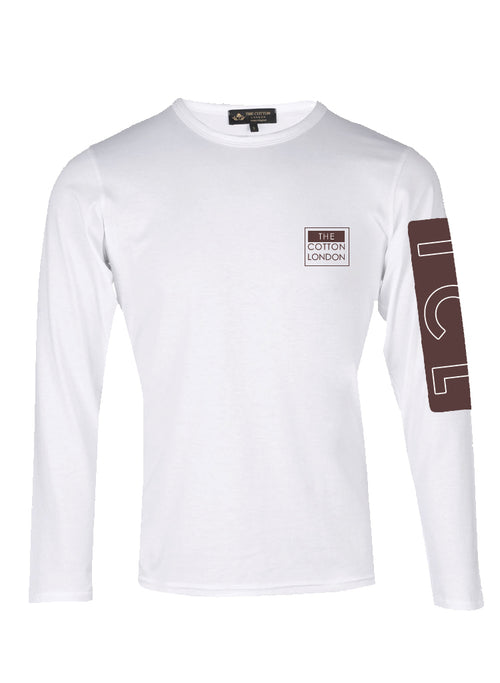 Supima Cotton TCL Brand White and Brown T-shirt