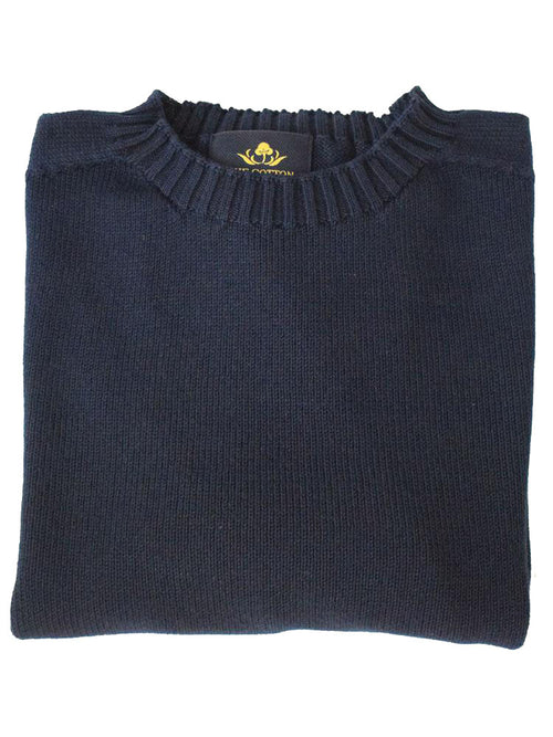 Pure Dakota Cotton Crew Neck Jumper – Dark Navy