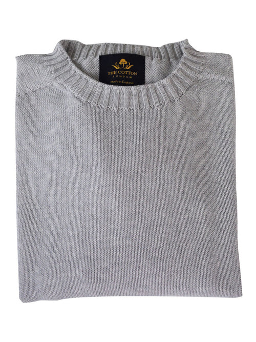 Pure Dakota Cotton Crew Neck Jumper – Silber
