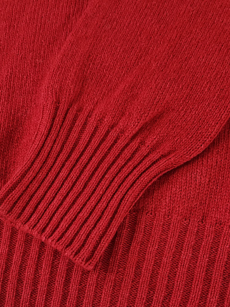 Pure Dakota Cotton Crew Neck Jumper - Rosehip