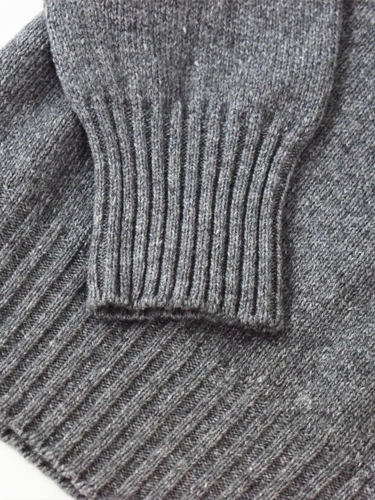 Wool X Cotton Blend Crew Neck Jumper - Lead