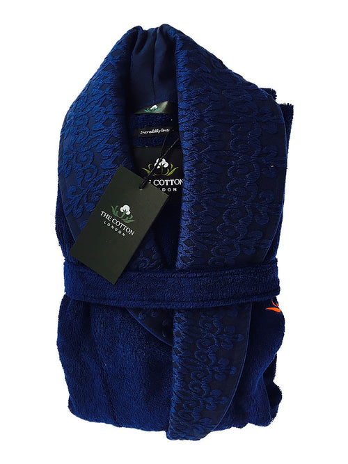 The Cotton® luxury Bathrobe - Navy