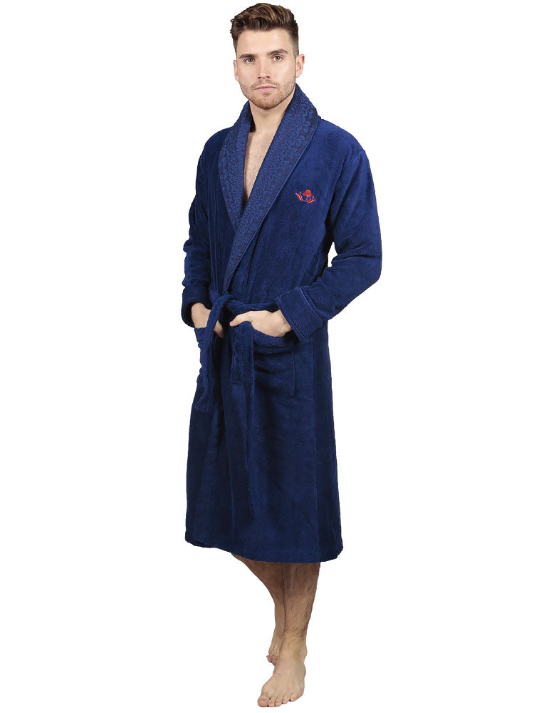 THE COTTON®LUXURY BATHROBE - NAVY