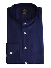 Navy marine smart-casual shirt in Canclini Oxford fabric