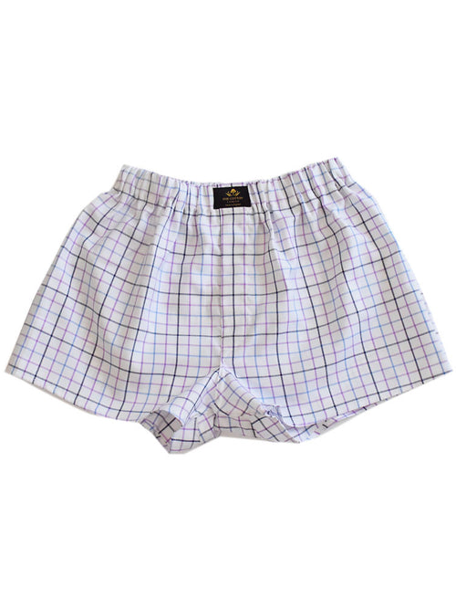Multicoloured chequered cotton boxers