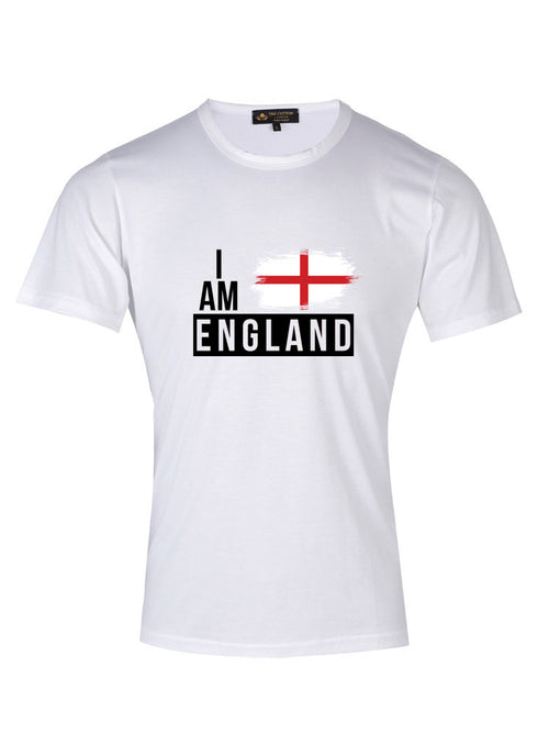 Supima Cotton England Country Football T-shirt