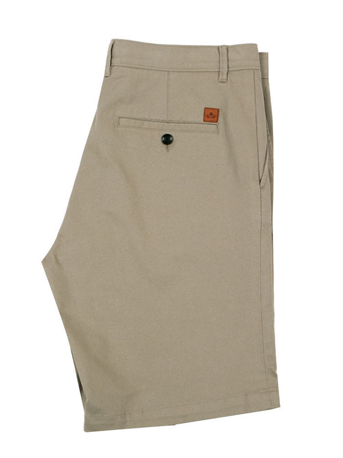 Side view of Italian Chino shorts - Light Grey