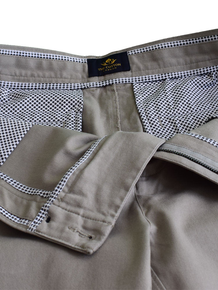Contrasting printed Italian fabric inner lining