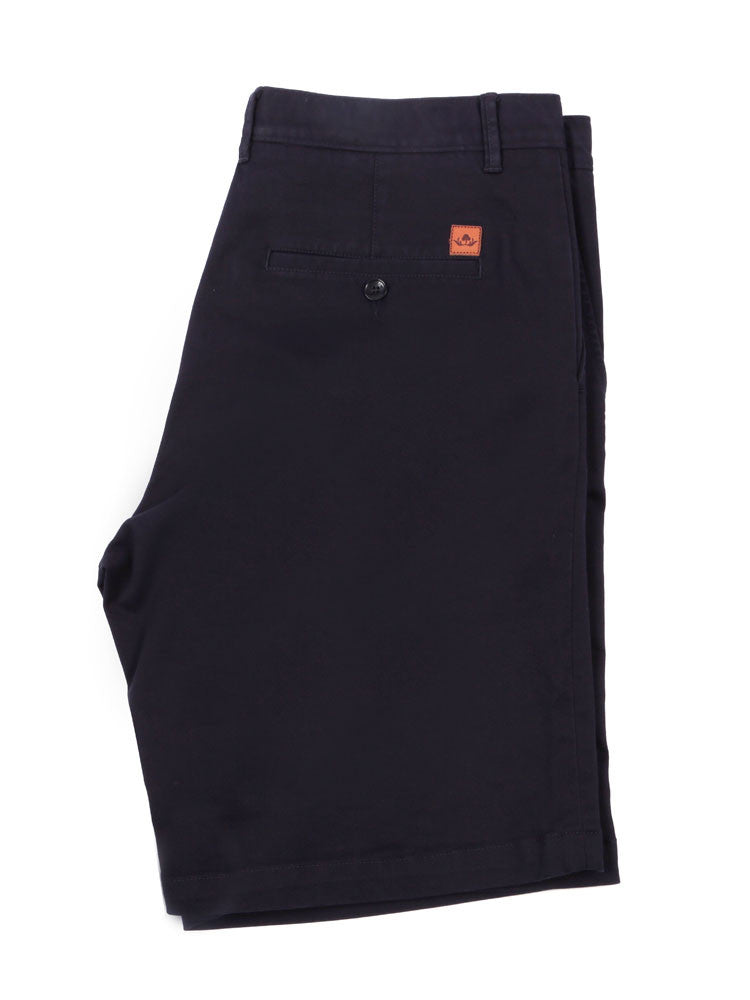 Side view of Italian Chino shorts - Navy