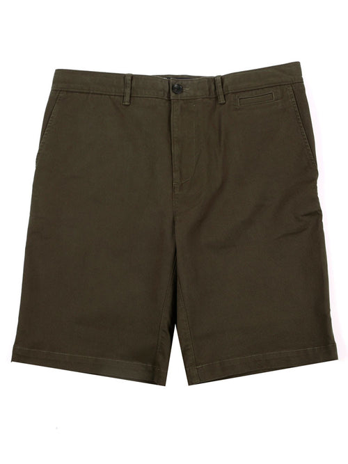 SLIM FIT ITALIAN CHINO SHORTS – OLIVE GREEN